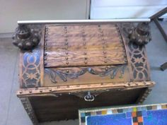 Chest made of recycled furniture at St Martin's Emmaus in Dover http://www.stmartinsemmaus.co.uk
