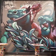 Kiptoe at L'Aérosol in 2018 Street Wall Art, Dope Art, Mural Art, Graffiti Art, Deities, Shark, Design Art, Sketch, Walls