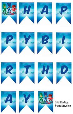 Create your PJ Masks birthday banner with these Free printable PJ Masks Birthday Banner templates. If you're planning a party for your night time hero and you are on the lookout for inexpensive PJ Masks party decorations, add this printable PJ Masks birthday banner to the scene. The banner features images of all the lovable …