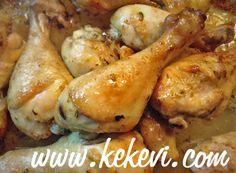 Ballı Limonlu Fırında Tavuk Baget ve Patates