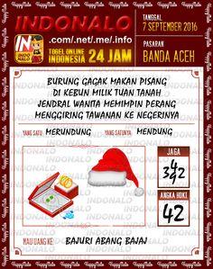Data Togel Wap Online Live Draw 4D Indonalo Banda Aceh 7 September 2016