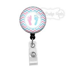 Badge Holder  Labor and Delivery Nurse Badge by JustBadgeReels
