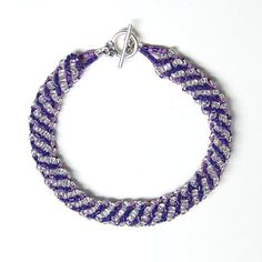 Metallic grape Russian spiral bracelet