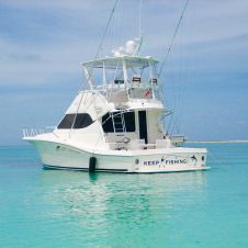 RECOMMENDED   Keep Fishing 45 ft. Rampage 45 convertible sport fishing yacht available for fishing charters out of La Romana, DR.