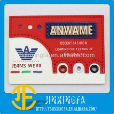 Source Customized Logo Printed label with Eyelets For Jean on m.alibaba.com