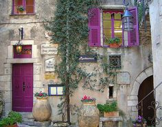 Pink Door and Shutters, love this!
