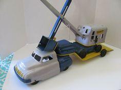 Tin Toys, Toy Trucks, Crane, Vintage Toys, 1930s, Construction, Boys, Sheet Metal, Clearance Toys