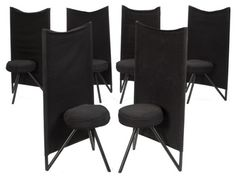 1982 Philippe Starck Miss Wirt Chairs