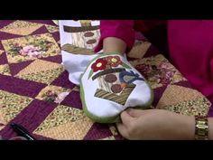 Porta pano de copa em patchwork com retalhos de tecidos com Claudete Messias Parte 2 - YouTube