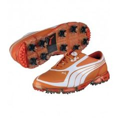 PUMA GOLF SHOES AMP CELL FUSION SL VIBRANT ORANGE WHITE - ebf0c3892