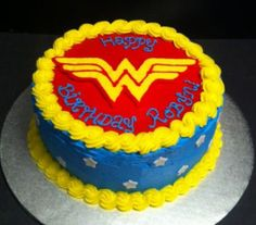 Wonder Woman Cake Buttercream Wonder Woman Birthday Cake, Wonder Woman Cake, Wonder Woman Party, Birthday Woman, Birthday Cakes For Women, Birthday Cake Girls, 6th Birthday Parties, Birthday Ideas, Supergirl Cakes