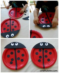 Paper plate bugs paper plate crafts for kids paper plate cra Paper Plate Crafts For Kids, Fun Crafts For Kids, Summer Crafts, Letter L Crafts, Ladybug Crafts, Music Paper, Beaded Bouquet, Diy Candles, How To Make Paper
