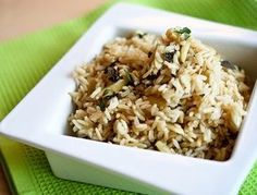 Toasted Coconut & Almond Rice with Mint. This is no sad side of rice - it's jubilant! Toasted Almonds, Toasted Coconut, Almond Rice Recipe, Coconut Rice, Rice Recipes, Healthy Recipes, Recipies, Alkaline Diet Recipes, Healthy Eating