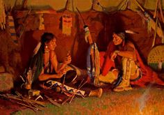 The Arrow Maker / R.S. Riddick, CA / 42.00x60.00 / $88000.00/ Sold - Wood River Fine Arts