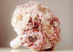 Fabric Wedding Bouquet Brooch Bouquet Weddings by bouquets4love