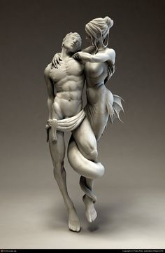 Temptation by Fabio Prati More zBrush art. Very beautiful sculpture as a whole. 3d Art, Body Art Tattoos, Art Photography, Sculpture Art, Amazing Art, Zbrush, Sculpture, Art, Sculpting