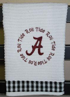 Alabama Kitchen Towel by Babybeecute on Etsy, $8.00