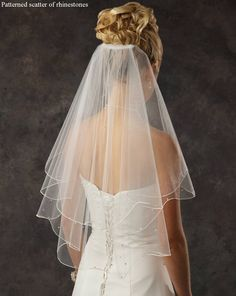 Elbow Length Bridal Veil with Rhinestones -beautiful!
