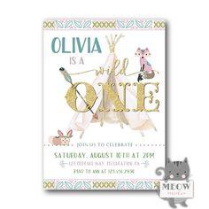235 best birthday invitations for girls images on pinterest pink wild one birthday invitation wild one invitations wild 1st birthday invitations girls wild one birthday party invites digital printed filmwisefo