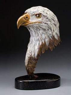 Sculpture Images, Tree Sculpture, Animal Sculptures, Bronze Sculpture, Eagle Head, Bald Eagle, Finger Curls, Eagle Pictures, Wood Carving Art