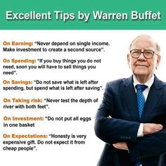 Investment Tips by Warren Buffett