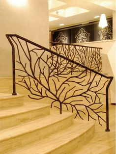 15 Bannisters that will make you Swoon, Home & Garden Design Ideas Articles House Design, Home Garden Design, Railing Design, Stair Handrail, Staircase Design, Wrought Iron Stairs, Wrought Iron Railing, Iron Work, Stairs