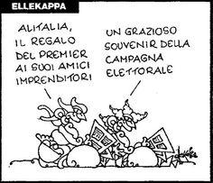 Ellekappa - Repubblica 16 settembre 2008