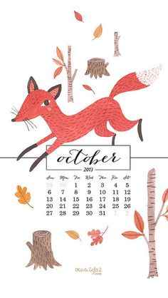 free october desktop/phone wallpapers // oana befort