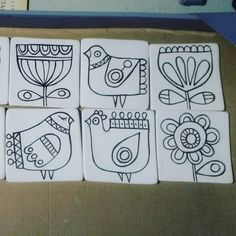 Fun patterns for embroidery Ceramic Painting, Fabric Painting, Ceramic Art, Madhubani Painting, Motif Floral, Art Plastique, Indian Art, Doodle Art, Embroidery Patterns