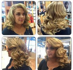 Brigitte Senior Stylist at precision styling. Ottawa stylist Retro look Ottawa hair Pin up Waves Curls, Big Waves, Retro Look, Retro Style, Retro Hairstyles, Ottawa, Hair Pins, Retro Fashion, Salons
