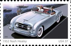 The 1952-54 Nash-Healey on a US Postage Stamp.