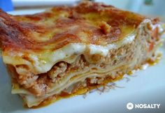 Bolognai lasagne DoGGmától | NOSALTY Thing 1, Bolognese, Quiche, Main Dishes, Food And Drink, Pizza, Vegan, Meals, Breakfast