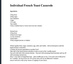 French Toast Cerole Microwave Grillmicrowave Recipesfrench