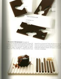 Chocolate pencil shavings - from Design Culinaire book