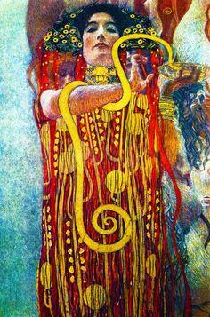 lonequixote:    Medicine (detail of Hygieia) by Gustav Klimt  (via @lonequixote)  Awesome Gustav Klimt