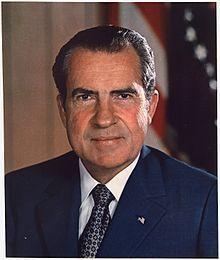 Richard Nixon en 1973. Représentant des USA pour la Californie, Sénateur, vice-président et Président des Etats-unis (1913-1994)