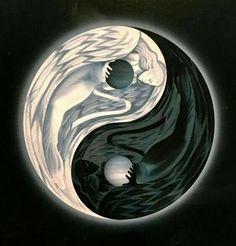 My yang. I love that you posted that. Arte Yin Yang, Yin Yang Art, Ying Et Yang, Ying Yang Wallpaper, Phoenix Wallpaper, Yin Yang Meaning, Yen Yang, Yin Yang Tattoos, Dragon Yin Yang Tattoo