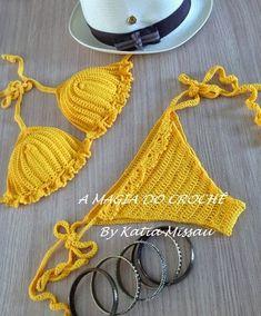 A MAGIA DO CROCHÊ - Katia Missau: Biquíni de Crochê - Biquíni Verano