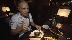 Valtteri Bottas: What's Cooking - Perry's Steakhouse (VIDEO) Valtteri Bottas, F1 Drivers, F1 Racing, What's Cooking, What To Cook, Motogp, Formula 1, Breakfast, Food