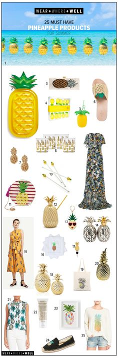 Where + Where + Well : 25 must-have pineapple products for this summer!