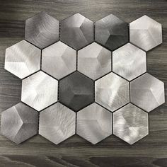 3 Inch Hexagon Stainless Steel Tile - Silver Blend - Deal Of The Day