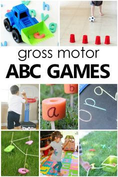 Gross Motor Alphabet Activities that Get Kids Moving - Fantastic Fun & Learning