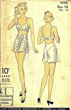 Unmentionable Patterns 1930s