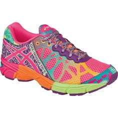 official photos 75479 ffa13 ASICS Gel Noosa Tri 9 GS Girls  Stylish Neon Running Shoes C401N Size 7 NWOT