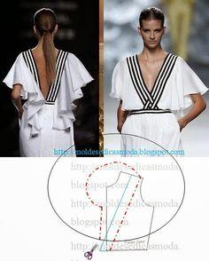 DETALHES DE MODELAÇÃO Analise as imagens e tente interpretar os detalhes dos modelos de roupa em questão. Nos detalhes de modelação abordo os pontos foco d
