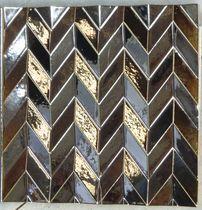 3D ceramic wall tile: metallic look