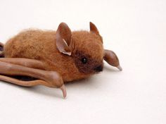 MADE TO ORDER  Needle felted Eastern Pipistrelle by CreturFetur, $50.00