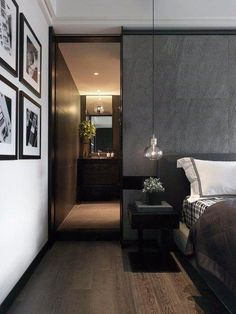 14 Trendy Bedroom Design and Decor Ideas for Your Next Makeover - The Trending House Bedroom Closet Design, Modern Bedroom Design, Contemporary Bedroom, Home Bedroom, Home Interior Design, Bedroom Decor, Bedroom Designs, Modern Contemporary, Hotel Room Design