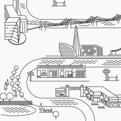 Wedding tableau with London illustrated map: Camden town, Baker Street, The Shard, Tate Modern, Millennium Bridge Graphic Design & Wedding Stationery by Paffi www. London Illustration, Millennium Bridge, Camden Town, The Shard, Baker Street, Wedding Stationery, Real Weddings, Journey, Graphic Design