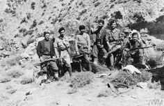 A group of partisans, including Manolis Paterakis (second from right) pose for the camera. 28 February, Pose For The Camera, Guerrilla, Steampunk, Crete, Military History, Warfare, Ww2, World War